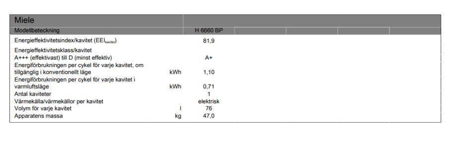 Miele H6660BP Obsidiansvart OUTLET 50% - Hallbäcks 9b326d9f7acc5