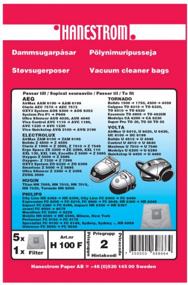 Haneström H100F S-Bag Dammpåsar Electrolux, Volta, Philips, AEG
