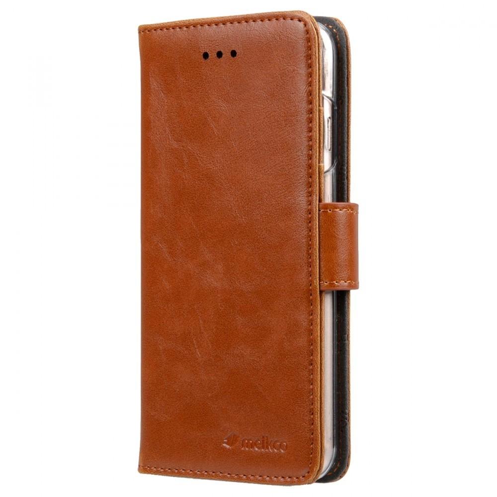 Melkco Brun wallet book för iPhone 7/8