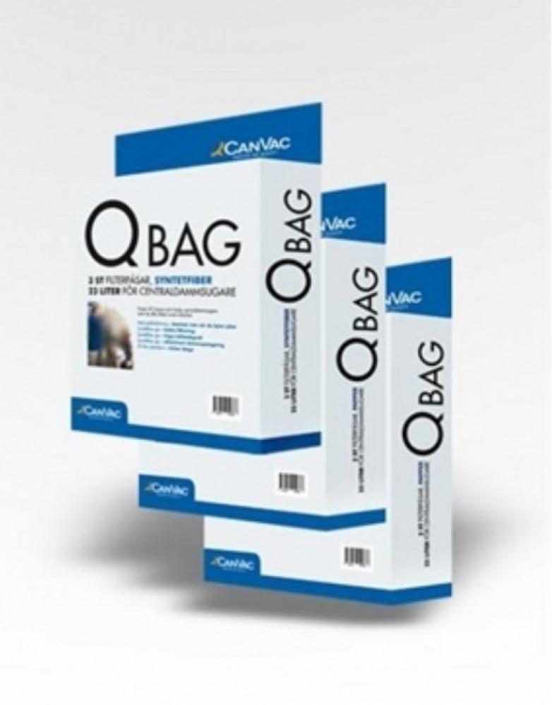 CanVac QBag syntetfiber påse till centraldammsugare