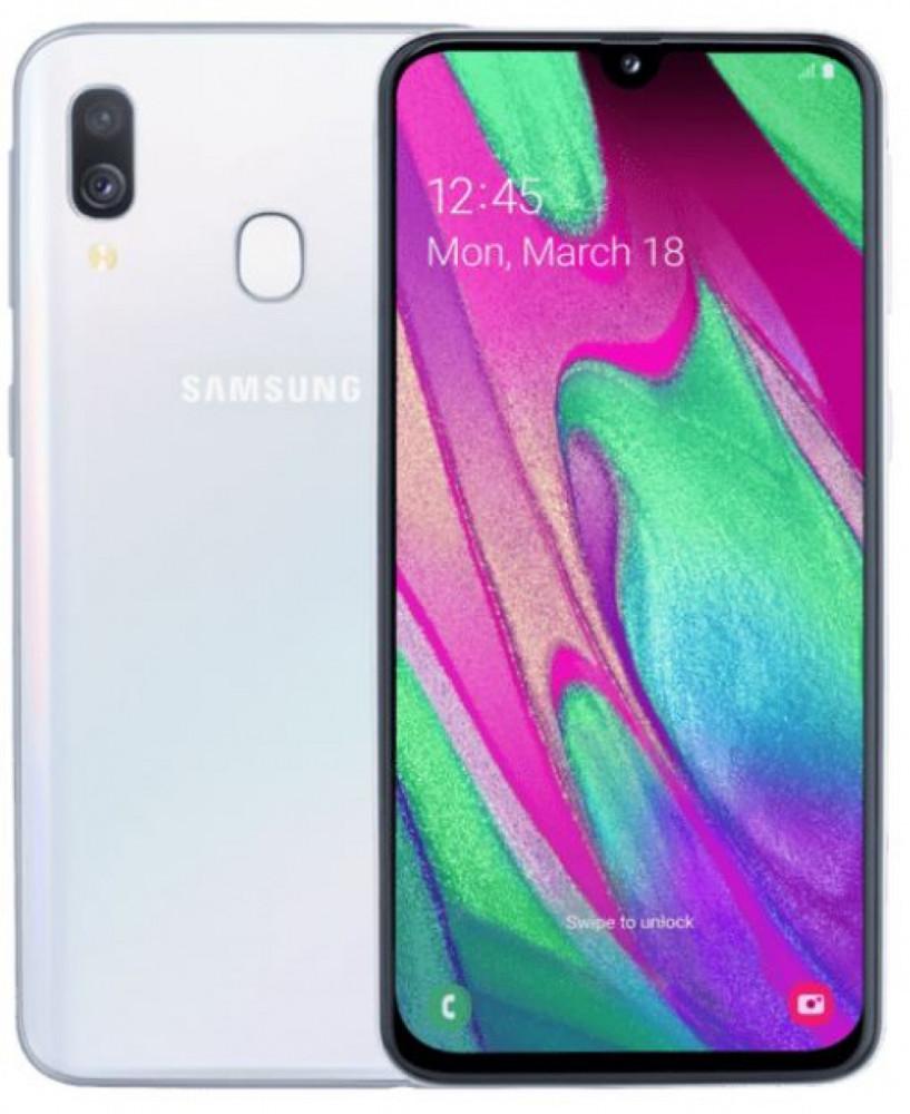 Samsung Galaxy A40 vit 299 kr/mån 24 mån SST NET avtal
